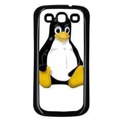 Linux Tux Contra Sit Samsung Galaxy S3 Back Case (black) by youshidesign