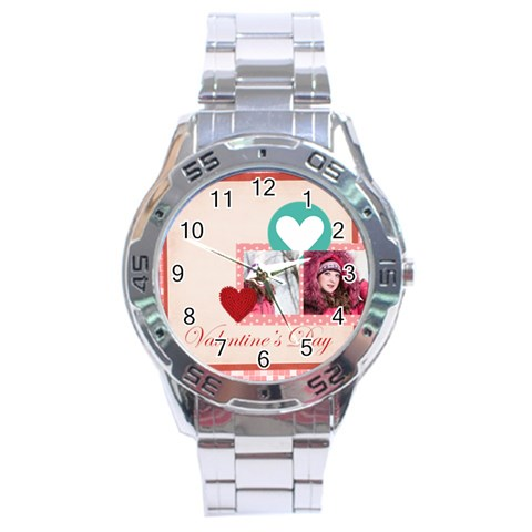 Love By Ki Ki   Stainless Steel Analogue Watch   Kr9pa24bwft0   Www Artscow Com Front
