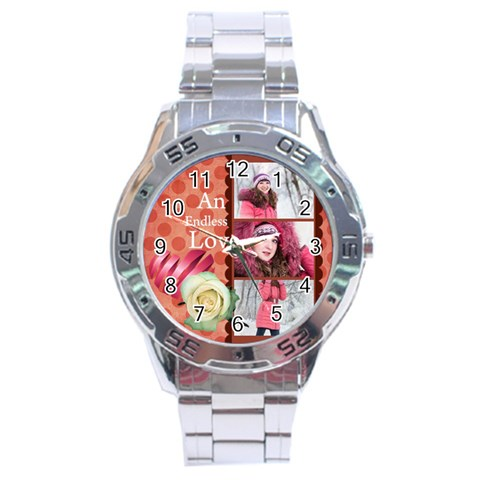 Love By Ki Ki   Stainless Steel Analogue Watch   8hsdvnsrxgmz   Www Artscow Com Front
