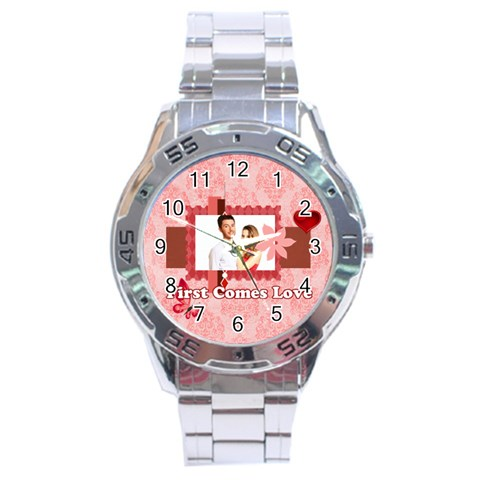 Love By Ki Ki   Stainless Steel Analogue Watch   9tk5ez7gr02o   Www Artscow Com Front