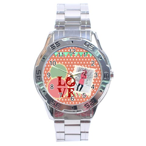 Love By Ki Ki   Stainless Steel Analogue Watch   Hjar0co7bjx2   Www Artscow Com Front