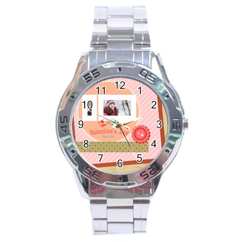 Love By Ki Ki   Stainless Steel Analogue Watch   Clngb84a4k6n   Www Artscow Com Front