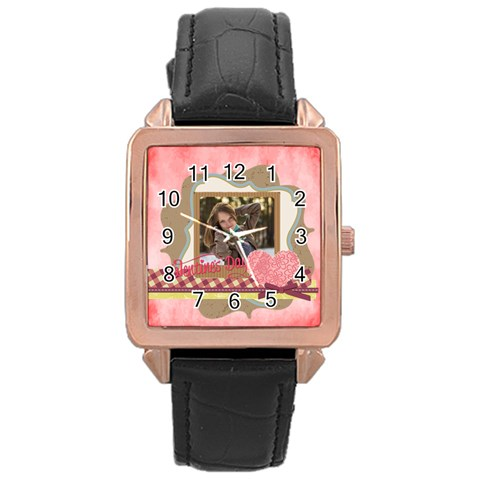 Love By Ki Ki   Rose Gold Leather Watch    1pgsrrk2nk13   Www Artscow Com Front