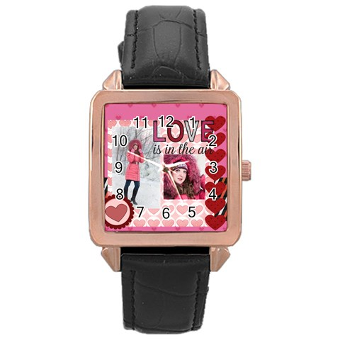Love By Ki Ki   Rose Gold Leather Watch    8ny8x6lysi30   Www Artscow Com Front