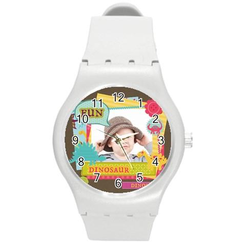 Kids By Kids   Round Plastic Sport Watch (m)   Ds640mk8wjs8   Www Artscow Com Front