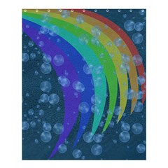 Bubbles And Rainbows Shower Curtain 60  X 72  (medium)