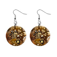 Steampunk Mini Button Earrings