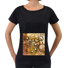 Steampunk Womens' Maternity T-shirt (Black) by Ancello