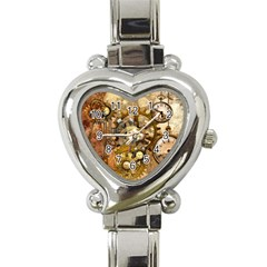 Steampunk Heart Italian Charm Watch  by Ancello