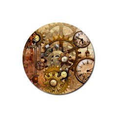 Steampunk Drink Coasters 4 Pack (round) by Ancello