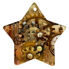 Steampunk Star Ornament (two Sides) by Ancello