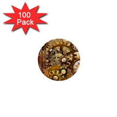 Steampunk 1  Mini Button (100 Pack) by Ancello