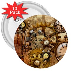 Steampunk 3  Button (10 pack) by Ancello