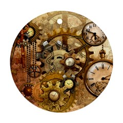 Steampunk Round Ornament (two Sides)