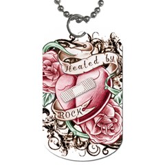 Healed By Rock Dog Tag (one Sided) by Rockcandyink