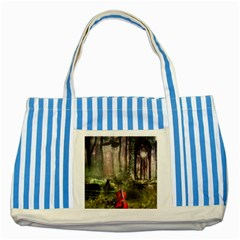 Last Song Striped Blue Tote Bag by Ancello