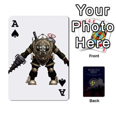 Ace Bioshock By Ryan Rouse   Playing Cards 54 Designs   Cwgpfrzvwli0   Www Artscow Com Front - SpadeA