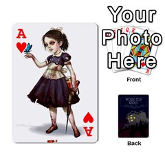 Ace Bioshock By Ryan Rouse   Playing Cards 54 Designs   Cwgpfrzvwli0   Www Artscow Com Front - HeartA
