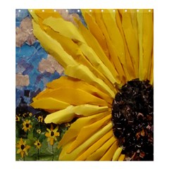 3d Sunflower Design Shower Curtain 66  X 72  (large) by Contest1823010