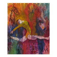 Colorful Dancer-Gymnast  Shower Curtain 60  x 72  (Medium) by Contest1823010
