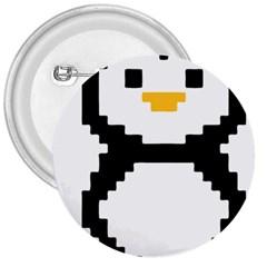 Pixel Linux Tux Penguin 3  Button by youshidesign