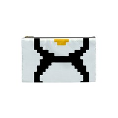 Pixel Linux Tux Penguin Cosmetic Bag (small) by youshidesign