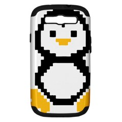 Pixel Linux Tux Penguin Samsung Galaxy S Iii Hardshell Case (pc+silicone) by youshidesign