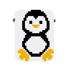 Pixel Linux Tux Penguin Apple Ipad Protective Sleeve by youshidesign