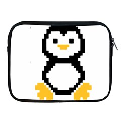 Pixel Linux Tux Penguin Apple Ipad Zippered Sleeve by youshidesign