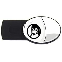Liux Tux Egg Brand 2gb Usb Flash Drive (oval) by youshidesign