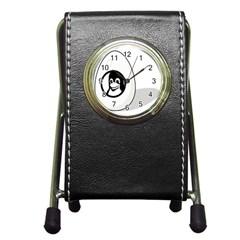 Liux Tux Egg Brand Stationery Holder Clock by youshidesign