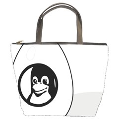 Liux Tux Egg Brand Bucket Handbag by youshidesign