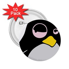 Lazy Linux Tux Penguin 2 25  Button (10 Pack) by youshidesign