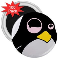 Lazy Linux Tux Penguin 3  Button Magnet (100 Pack) by youshidesign