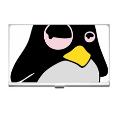 Lazy Linux Tux Penguin Business Card Holder by youshidesign