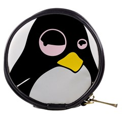 Lazy Linux Tux Penguin Mini Makeup Case by youshidesign