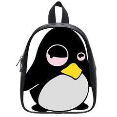 Lazy Linux Tux Penguin School Bag (small) by youshidesign