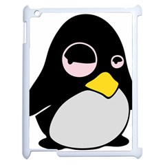 Lazy Linux Tux Penguin Apple Ipad 2 Case (white) by youshidesign
