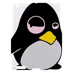 Lazy Linux Tux Penguin Apple Ipad 3/4 Hardshell Case by youshidesign
