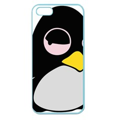 Lazy Linux Tux Penguin Apple Seamless Iphone 5 Case (color) by youshidesign