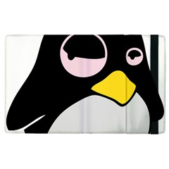 Lazy Linux Tux Penguin Apple Ipad 3/4 Flip Case by youshidesign