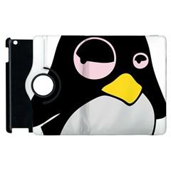 Lazy Linux Tux Penguin Apple Ipad 3/4 Flip 360 Case by youshidesign