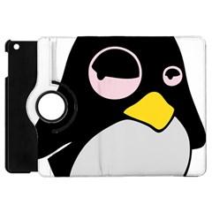 Lazy Linux Tux Penguin Apple Ipad Mini Flip 360 Case by youshidesign