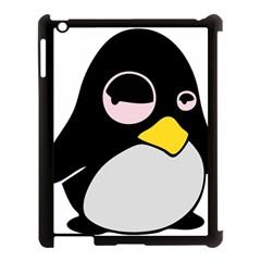 Lazy Linux Tux Penguin Apple Ipad 3/4 Case (black) by youshidesign