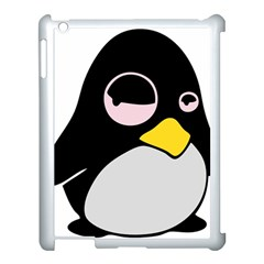 Lazy Linux Tux Penguin Apple Ipad 3/4 Case (white) by youshidesign