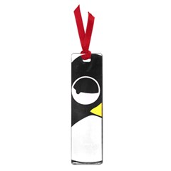 Lazy Linux Tux Penguin Small Bookmark by youshidesign