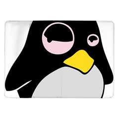 Lazy Linux Tux Penguin Samsung Galaxy Tab 10 1  P7500 Flip Case by youshidesign