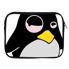 Lazy Linux Tux Penguin Apple Ipad Zippered Sleeve by youshidesign