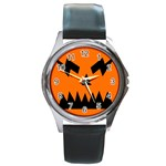 EBAYHALLOWANGRY JACKOLANTERN Round Metal Watch