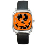 EBAYHALLOWCRAZYJack-o-Lanterns Square Metal Watch